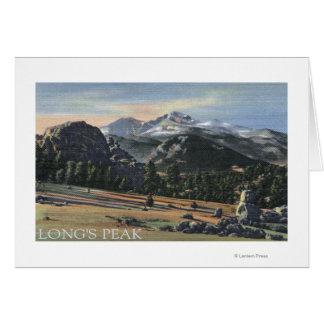 Estes Park, Colorado - Longs Peak View Card