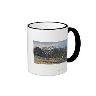 Estes Park, Colorado - Longs Peak View Coffee Mugs
