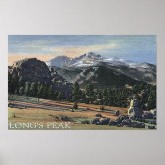 Estes Park, Colorado - Longs Peak View Print