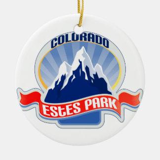 Estes Park Colorado Round Ceramic Decoration