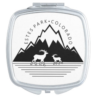 Estes Park Colorado simple moose compact mirror