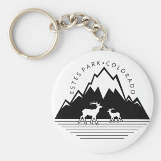Estes Park Colorado simple moose keychain