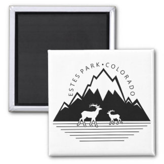 Estes Park Colorado simple moose square magnet