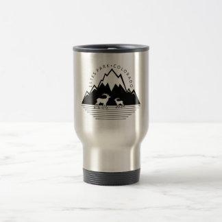 Estes Park Colorado simple moose travel mug