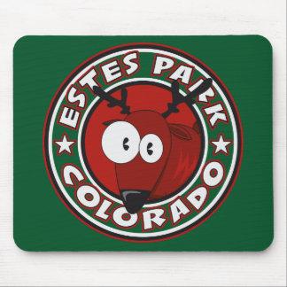 Estes Park Elk Circle Mouse Pads