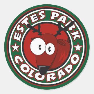 Estes Park Elk Circle Round Sticker