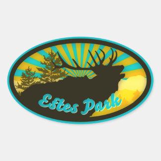 Estes Park Elk Sunrise Oval Sticker