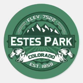 Estes Park Forest Round Sticker