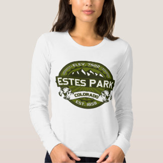 Estes Park  Logo Olive Shirt