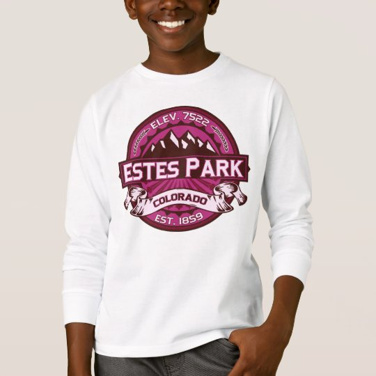 Estes Park  Logo Raspberry T-Shirt