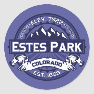 Estes Park Midnight Round Sticker