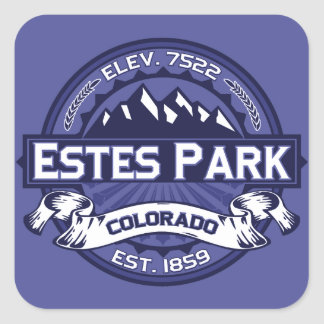 Estes Park Midnight Square Sticker