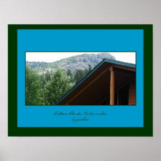 Estes Park-Mountain Cabin Roof Poster