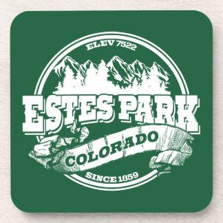 Estes Park Old Circle Green Drink Coasters