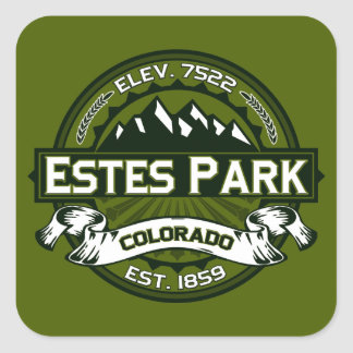 Estes Park Olive Square Sticker