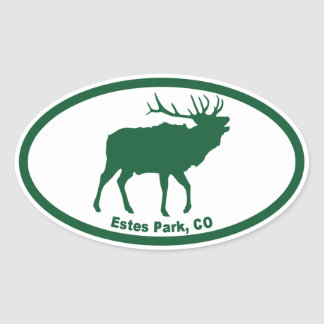 Estes Park Oval Sticker
