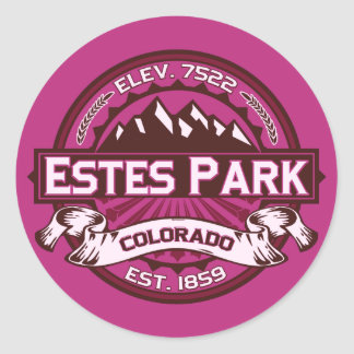 Estes Park Raspberry Round Sticker