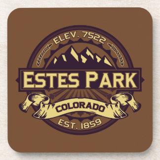 Estes Park Sepia Beverage Coasters
