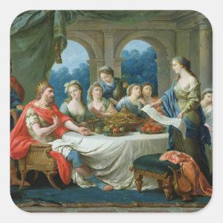 Esther and Ahasuerus, c.1775-80 Square Sticker
