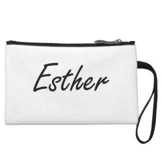 Esther artistic Name Design Wristlet