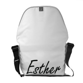 Esther artistic Name Design Commuter Bags