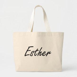 Esther artistic Name Design Jumbo Tote Bag
