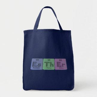 Esther as Einsteinium Thorium Erbium Canvas Bags