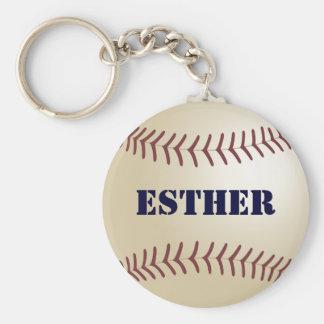 Esther Baseball Keychain