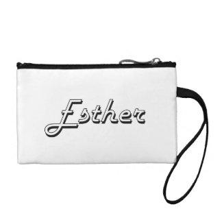 Esther Classic Retro Name Design Coin Purses