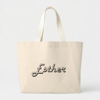 Esther Classic Retro Name Design Jumbo Tote Bag