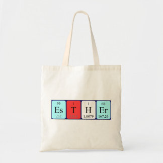 Esther periodic table name tote bag