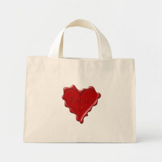 Esther. Red heart wax seal with name Esther Mini Tote Bag