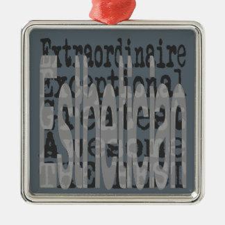 Esthetician Extraordinaire Silver-Colored Square Decoration