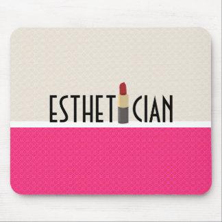 Esthetician Red Lipstick Makeup Artist Mouse Pad