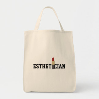 Esthetician Red Lipstick Makeup Artist Tote Bag