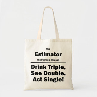 estimator canvas bag