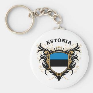 Estonia Basic Round Button Key Ring