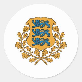 Estonia Classic Round Sticker