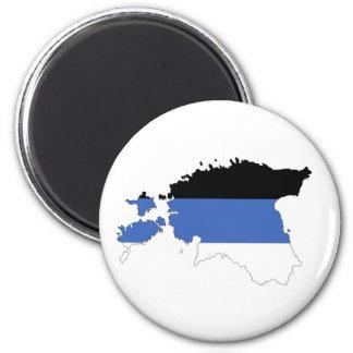 estonia country flag map shape symbol magnet