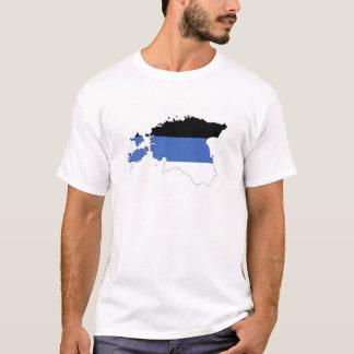 estonia country flag map shape symbol T-Shirt