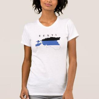 estonia country flag map shape symbol text eesti T-Shirt
