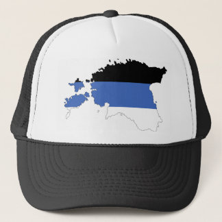 estonia country flag map shape symbol trucker hat
