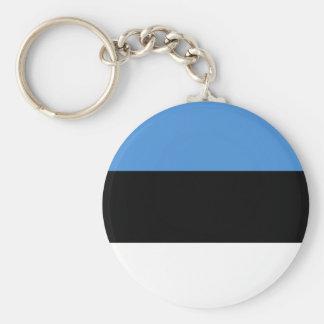 Estonia flag all over design basic round button key ring