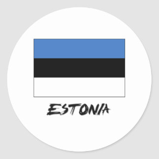 Estonia Flag Classic Round Sticker