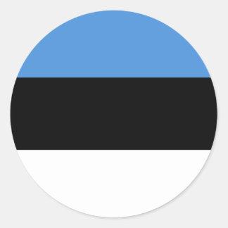 Estonia Flag EE Classic Round Sticker