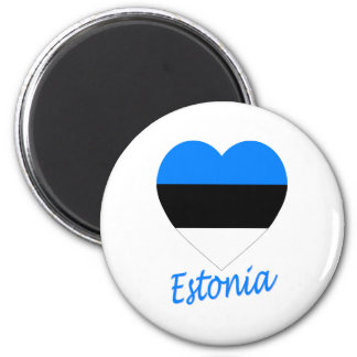 Estonia Flag Heart Magnet