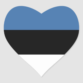 Estonia Flag Heart Sticker