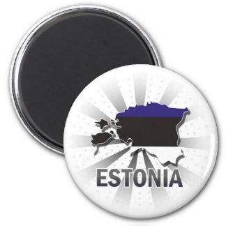 Estonia Flag Map 2.0 Magnet