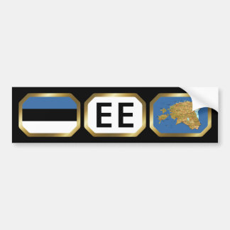 Estonia Flag Map Code Bumper Sticker