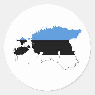 Estonia Flag map EE Classic Round Sticker